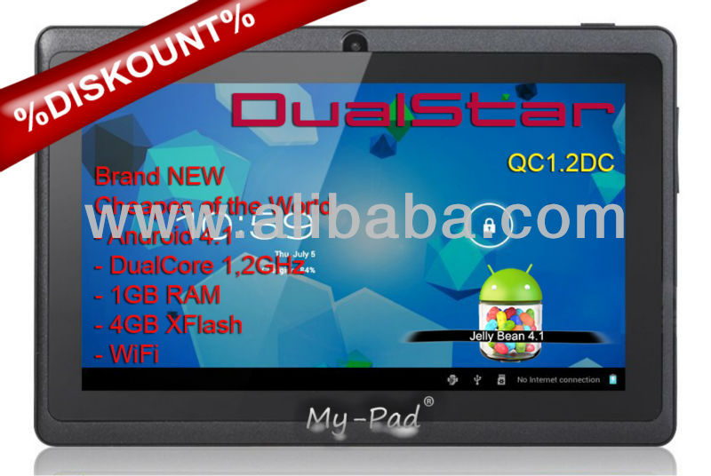 "Capacitive Tablet PC MID 1.2GHz Dual Core 7""Inch Discount 1GB"