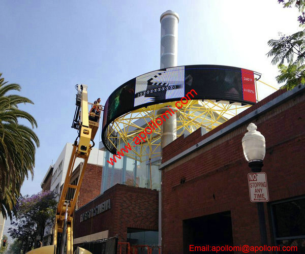 South Africa P16mm 20SQM Curve Video AD LED Display