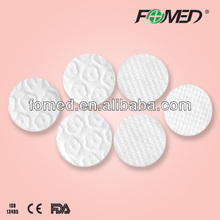 embossed flower cosmetic cotton wool pads