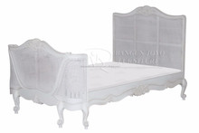 french bed white rattan