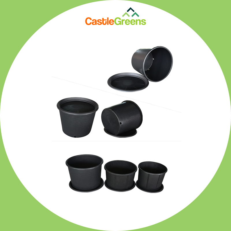 5 Gallon Plastic Grow Pots for Plants, Cuttings & Seedlings