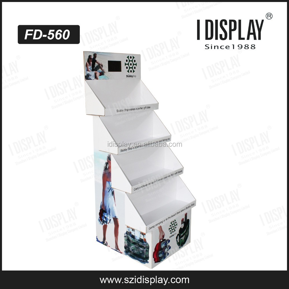 supermarket shelf lcd display, cardboard display for supermaket, Cardboard display shelf