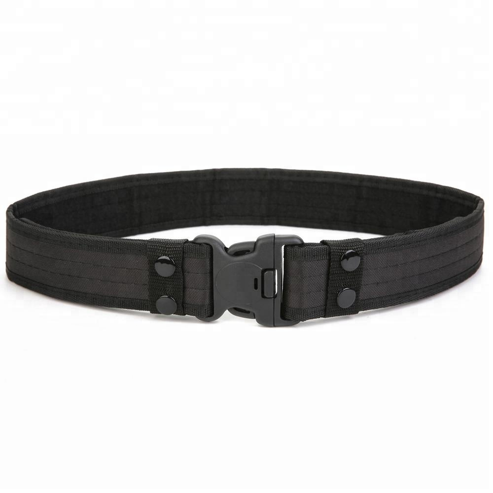 Factory Wholesale Outdoor black Fabric Nylon Military Army Tactical Belt with Cobra Buckle