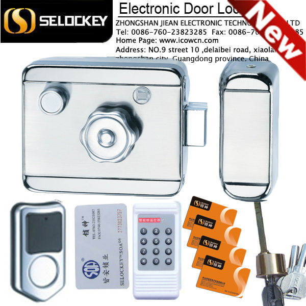 High Quality Main Gate Electronic Door Lock, remote control, swipe smart card