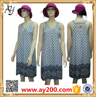 Latest fashion printed simple flower material lady blouse design in South Africa