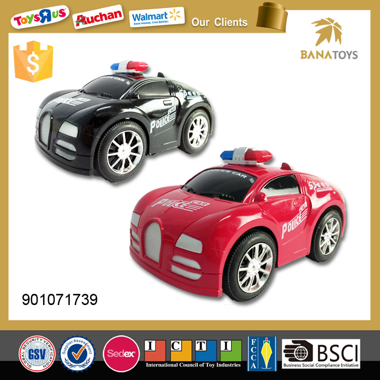 police die cast pull back toy car