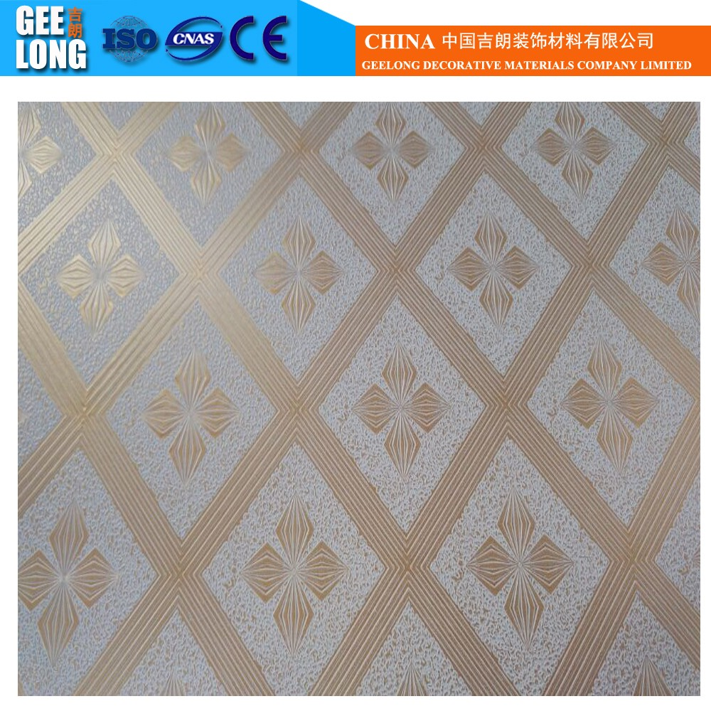 Wholesale golden gypsum board online buy best golden gypsum pvc laminated stronggypsumstrong ceiling tiles dailygadgetfo Image collections