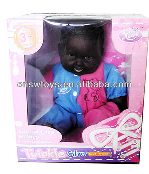 electrical life like black doll silicone reborn babies
