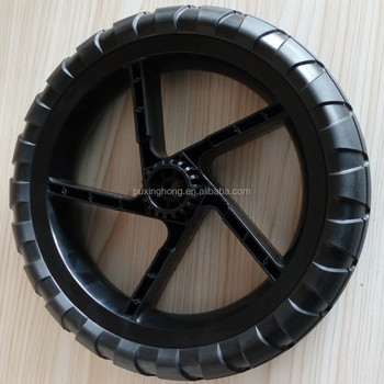 China Tyre Factory PU Foaming Stroller Solid Big Tyre