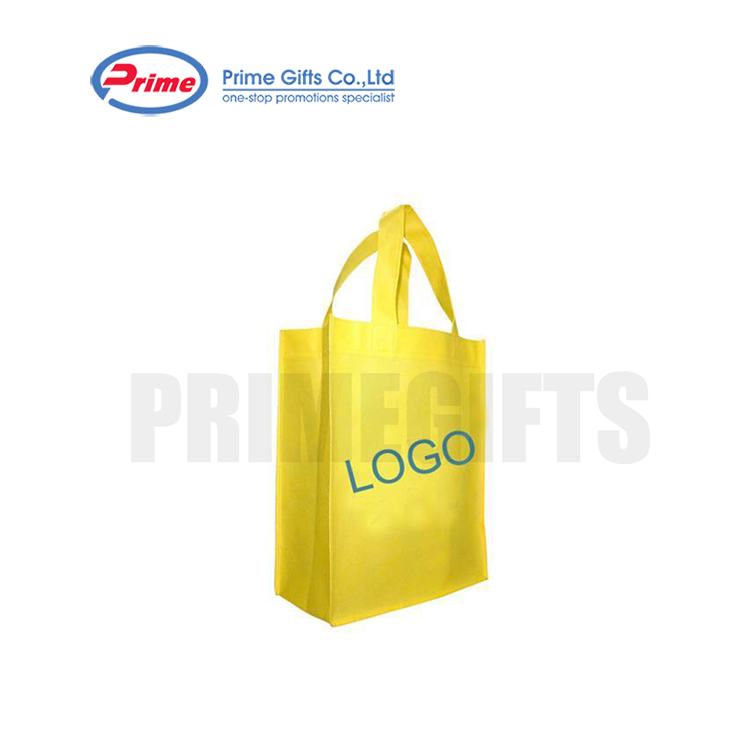 Yellow Environmental Protection The Nonwoven Shopping Tote Bag