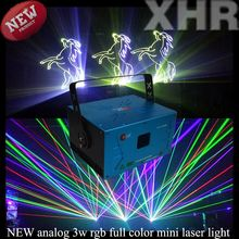 Dj equipment 3watts mini full color stage laser light laser show system