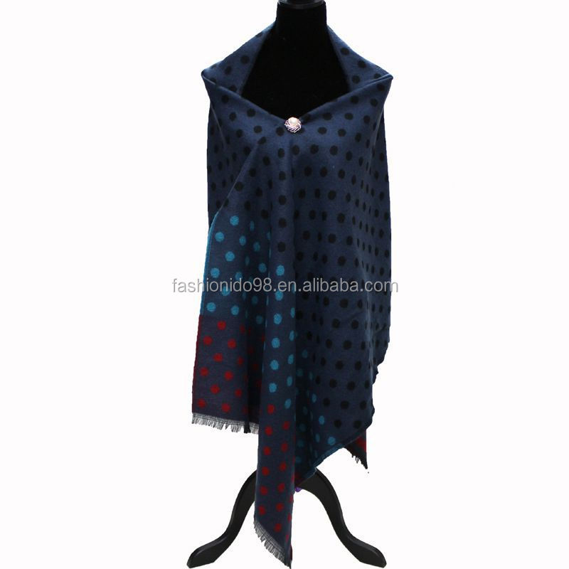 Cashmere Women's southwestern, Ladies Cable Knit southwestern Shawls With Button Scarf