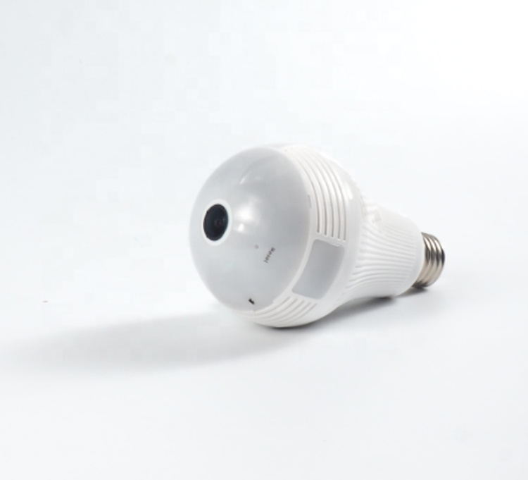 1.3Mega pixels 960P <strong>WiFi</strong> 360 Panoramic Fisheye Spy Hidden Bulb Light IP Camera