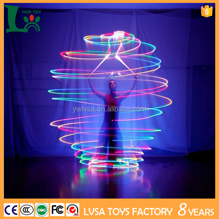 2017 Party Toys LED Poi Ball Color Changing Light Up Rubber Ball