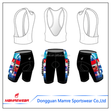 wholesale polyester spandex design your own compression cycling bib shorts cycling clothing shorts cycle gear