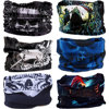 Full face ghost mask Outdoor Sports Camo Cycling Bandana Magic Scarf Tubular Microfiber Seamless Tube face mask skull