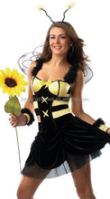 Wholesale Fashion Ladies Mini Carnival Dresses Sexy Bee Costumes