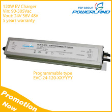 120W Programmable Battery Charger for Electric Vehicle with Universal Input