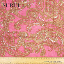 Custom beautiful totem printed pure linen fabric