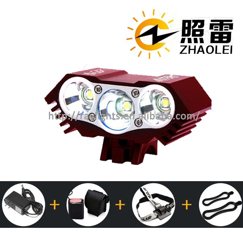 3 LED usb charing bike bicycle mini safety road front back rechargeable bike 2200 lumen bike light