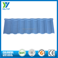 Contemporary economy blue stone coated metal roofing tiles