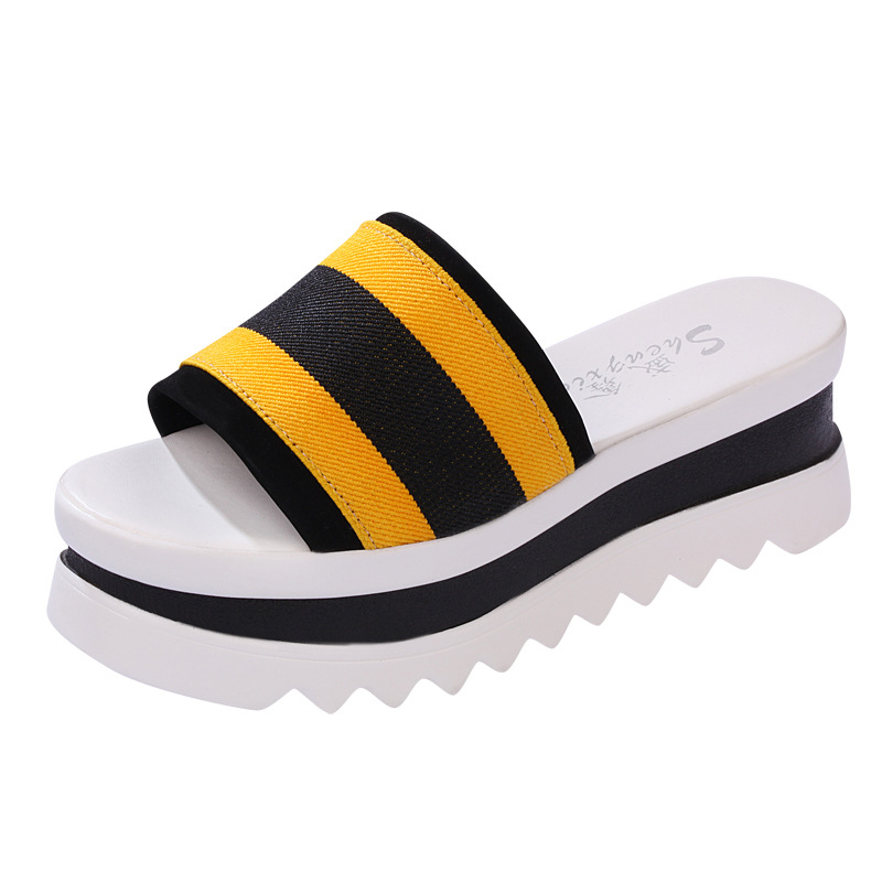 ZH0281L Latest fashion design summer cheap women's shoes sandals PVC platform shoes