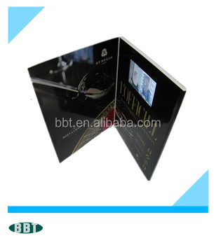 advertising video brochure with 4.3inch factory supply