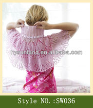 Elegant !pink Lacy Capelet Victoria knitting scarf shawl
