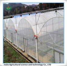8M span siamesed film green house at low price