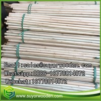 Natural Wooden Broom Stick Competitive Price Eucalyptus Natural Wooden Mop Broom Handle