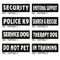 Berry 8 Types Reflective Velcro Patch Label Tag for Dog Harness Service