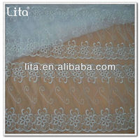 2016 new design embroidery lace fabric