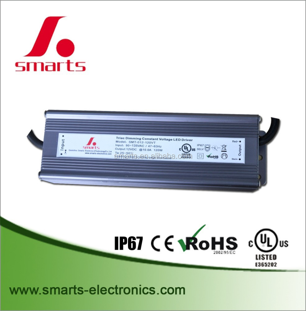 12vDC triac dimmable led driver switching power supply 120w