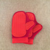Soft textile pet grooming brush glove for bath cleaning pet rubber glove