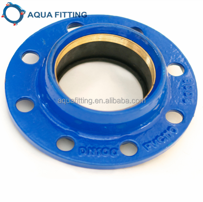 Quick flange adaptor for HDPE PVC pipe
