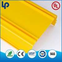 Supply Electric yellow Plastic Pvc Wiring Cable Duct