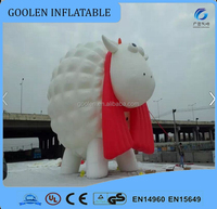 Giant outdoor inflatable cartoon character, inflatable sheep