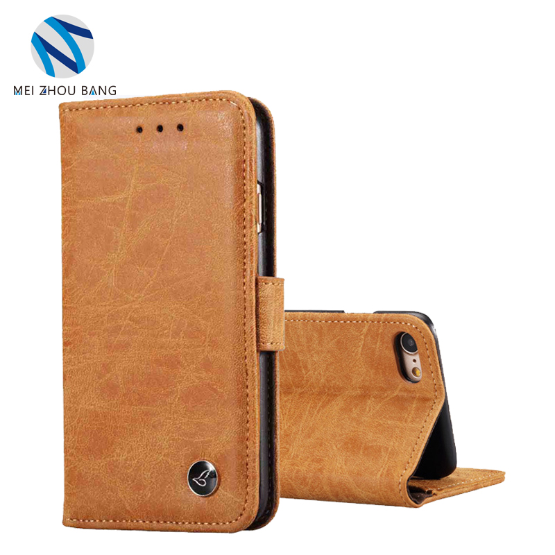 For iPhone 8 Case Cover Luxury Genuine Leather Wallet Flip Cover Mobile Phone Cases for Samsung S8 Bags With Card Holder