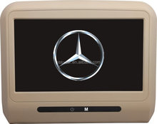 Headrest lcd dvd player for mecedes benz with Wireless Game,Usb,Sd,Ir,Fm