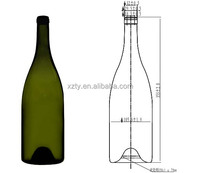 1500 ml dark green Rheingau Riesling sparking wine champagne glass bottle
