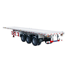 Top Sale 3 axle 40ft 20ft 45ft flatbed container truck semi trailer for transportation