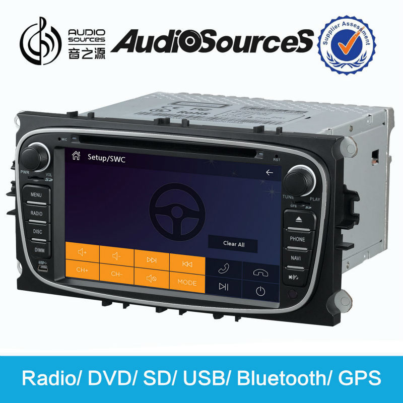 car radio for Ford focus c-max s-max with GPS navigation SWC BT phonebook lyric HD video 3G