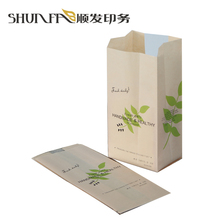 Food packaging brown kraft paper bags for bread with clear pvc window