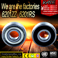deep groove ball bearings all sizes miniature 6201 6201z 6201ZZ 6201RS used in electric cars,motorcycles,electric tools and th