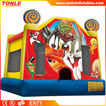 Looney Tunes 2 inflatable Jump Bounce House, inflatable moonwalk, inflatable bouncy castle wholesale