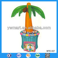 Eco-friendly inflatable palm tree cooler, palm tree inflatable beverage cooler, inflatable bucket cooler