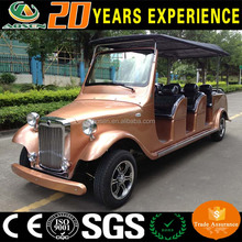 Luxury CE approved electric vintage car 12 seater golf cart model t