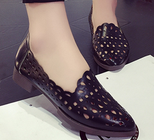 Newest style casual woman shoes Korean PU solid color lady flat Breathable fancy shoes