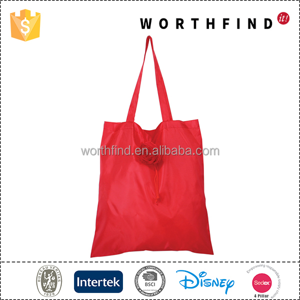 High quality custom flower foldable cheap reusable shopping bags wholesale
