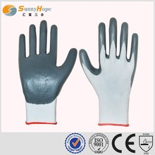 SUNNYHOPE Nitrile 13gauge Palm Coated Fine utility gloves